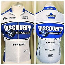 Nike Discovery Channel Trek (Medium) 1/2 Zip Up Dri-Fit Cycling Jersey
