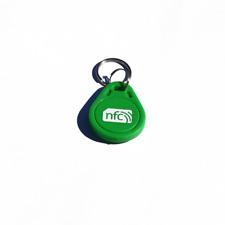 10 NFC VERDE ABS Portachiavi/Portachiavi NXP Ntag 213 Android Samsung
