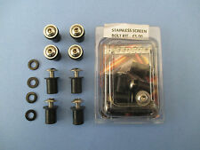 STAINLESS STEEL SCREEN BOLT KIT SCREEN BOLTS SCREWS IN STAINLESS 8 PACK