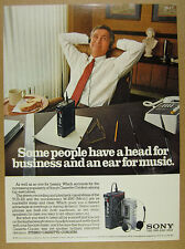 1981 Sony Stereo Cassette-Corders TCS-310 & M-1000 photo vintage print Ad