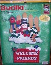 Bucilla Frosty  WELCOME FRIENDS Felt Christmas Wall Hanging Kit 84272