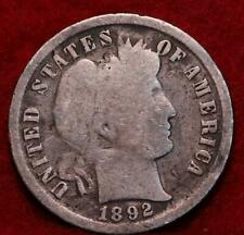 1892 Philadelphia Mint Silver Barber Dime
