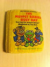 Cuddle Cloth Book The Muppet Babies Busy Day '85 Muppets Kermit Frog Fozzie Bear
