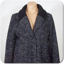 GAP Women's Jacket, Wool Blend, Navy/White Mix, size M