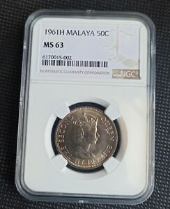 Malaya and British Borneo 1961 H 50 Cents NGC MS63