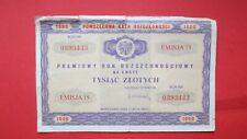 Poland 1971 - Premiowy Bon Oszczednosciowy na 1000 Zlotych.