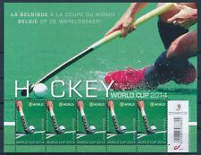 [B81] Belgique 2014 - N°4421** - Hockey - Petit Feuillet de 5 Timbres