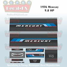 1976 Mercury 9.8HP Outboard Reproduction 11 Piece Marine Vinyl Decal Kit 110