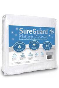 SureGuard 100% Waterproof Mattress Protector Hypoallergenic Dust Mites TWIN XL