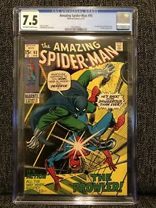 Amazing Spider-Man #93 GCG 7.5 VF- Marvel Comic 1971 STAN LEE 1st Arthur Stacy