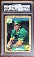 1987 Topps Jose Canseco RC Inscribed '88 AL MVP Signed Auto PSA/DNA Athletics