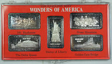 Wonders of America Hamilton Mint .999 Fine 1oz Group I Silver Ingot Collection