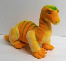 """Yellow Dinosaur Plush Stuffed Animal Made in Korea for Special Effects 9"""" Tall"""