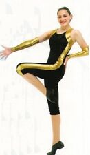 Hot Streak Dance Costume Capri Biketard Unitard No Mitts Gymnastic Child Medium