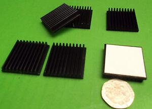 Heatsink CPU Games IC Heatsinks Video 6mm x 30mm Square SET Adhesive  x 1pc