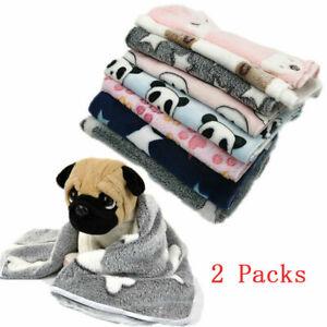 2 Pcs Pet Dog Blanket Cushion Soft Warm Stars Paw Bone Puppy Cat Cover Sleep Mat