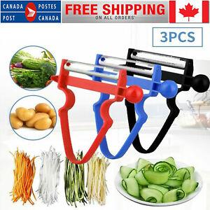 3Pcs Magic Trio Peelers Slicer Shredder Peeler Julienne Vegetable Fruit Cutter U