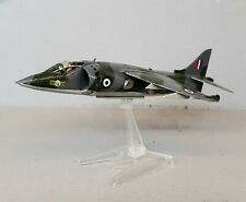 1:72 Scale Built Plastic Model Airplane British Harrier Fighter Jet w/ Display