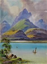EDWIN EARP WATERCOLOR PAINTING OF LOCH KATRINE (BRITISH 1851-1945)