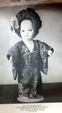 """GREAT VTG 8 1/4"""" ASIAN DOLL Shirley Augustine CLOTHING SEWING PATTERN"""