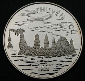 VIET NAM 100 Dong 1988 (h) Proof - Silver - Suphanna hong - 384