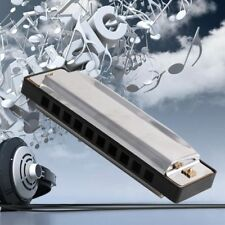 20 Tone Stainless Steel Diatonic Country 10 Holes Harmonica Key Of C Blues