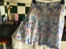 Bnwt Cacharel Jupe Bleu 44 size 18 girls ladies pink  blue lilac yellow skirt