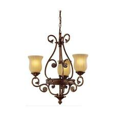 Hampton Bay Freemont 3-Light Hanging Antique Bronze Chandelier w/ Glass Shades