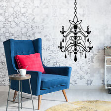 Decoration Mural Wall Sticker Furniture Black Vintage Chandelier Art 35cm x 31cm