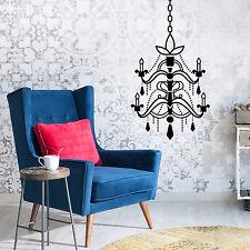 Decoración mural de pared calcomanía Muebles Negro Vintage Lámpara Arte 35cm X 31cm