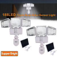 Solar Lights Outdoor Super Bright LED Solar Motion Sensor Lights 10000LM 6500K