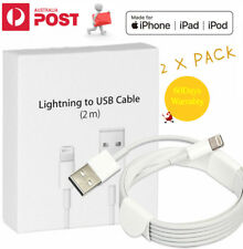 2 X 2M Lightning Date Charger Cable Cord Sync For Apple iPhone 5 C 6s 7 Plus X