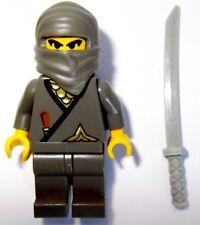 LEGO 3019 6093 1187 Castle Ninja Gray Ninja Minifigure with Gray Katana NEW