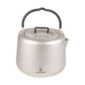 Pure Titanium Water Coffee Tea Boiling Water Pot Kettle Portable Camping 1400ml