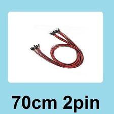 Top 70cm 2Pin Cable set Female-Female Jumper Wire for Arduino 3D Printer Reprap