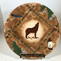 """Howling Wolf 8"""" Collectors Plate W.M.G. China"""