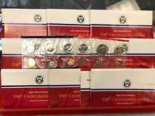 9 Set Lot of 1987 P-D Mint Uncirculated Sets ORIGINAL
