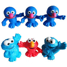 6pcs Sesame Street Cookie Monster Elmo Action Figures Toy Kid Cake Topper Decor
