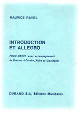 Introduction et allegro pour harpe avec accompagnement de Quatuor à Cordes