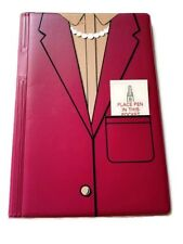 Journal Traveler Notebook Notepad With Pen Or Business Card Holder Woman's Suit