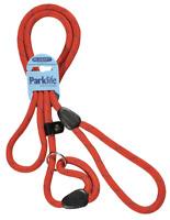 "HI-CRAFT Dog Slip Lead 10mm Nylon Mountain Rope RED 72"" Medium & Large Dogs"