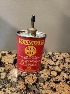 Vintage Savage Gun Oil 3 oz.Tin