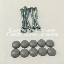 VW T25 T3 Vanagon T4 LT Westfalia Cabinet Screws (20mm) and Grey Caps *10 PACK*