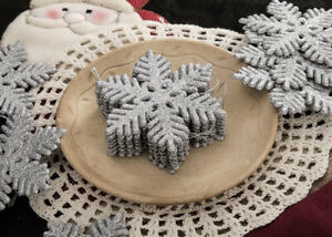 Glitter Snowflake Ornaments, Set of 36 pieces, holiday christmas tree