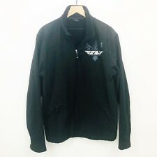 Fly Racing Mens Black Fully Lined Snow Riding Zip Front Jacket: Sz XL