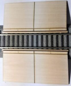 S Scale Roadway RAMPS for AF (Lionel) FasTrack straight grade crossing