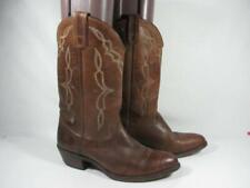 Vintage HH Brown Western Cowboy Boot Men size 9 M