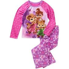 Girls Alvin & The Chipmunks Chippettes 2pc Pajama Set New with Tags Sz 6/6x Kids