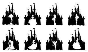 Disney Castle Princess vinyl decals sticker