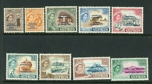 Cyprus 1960 Republic definitives selection to 100mil UM/MNH